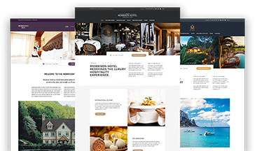 Morrison Hotel WordPress theme demo versions thumbnails